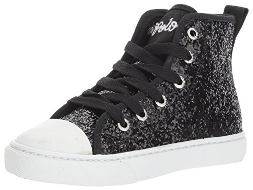 Glitter Sneaker Polo Lauren Black Girls' Ralph Hollyn Kids S00gyqzw1A