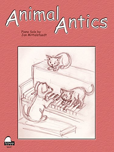 SCHAUM Animal Antics Educational Piano Series - Animal Sheet Antics