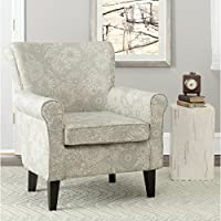 Safavieh Mercer Collection Margaret Ivory and Sage Floral Club Chair