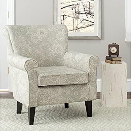 Marvelous Safavieh Mercer Collection Margaret Ivory And Sage Floral Club Chair