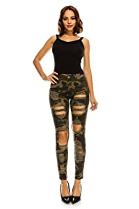 8. G-Style USA Women's Destroyed Skinny Jeans
