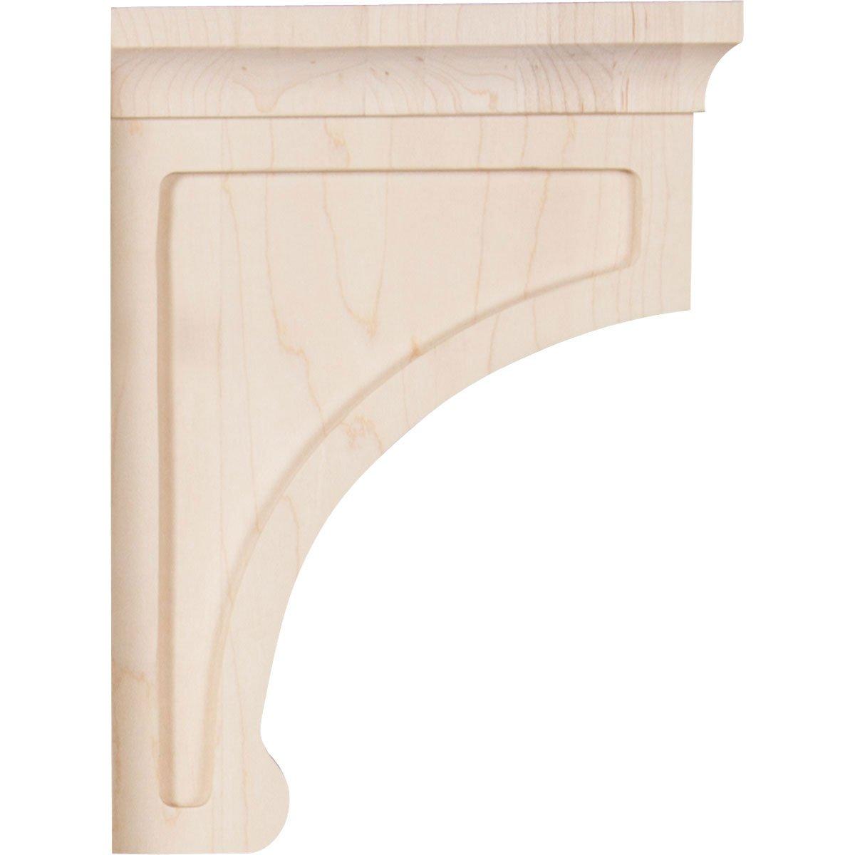Ekena Millwork BKTW02X04X06GORO Wood Bracket 2.5W x 4D x 6H Red Oak