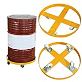 TECHTONGDA 55 Gallon 900 lb Steel Drum Dolly Tank Wheeled Power Tools Cart Steel Frame New