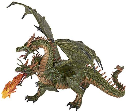 (Papo Two Headed Dragon Figure, Multicolor)