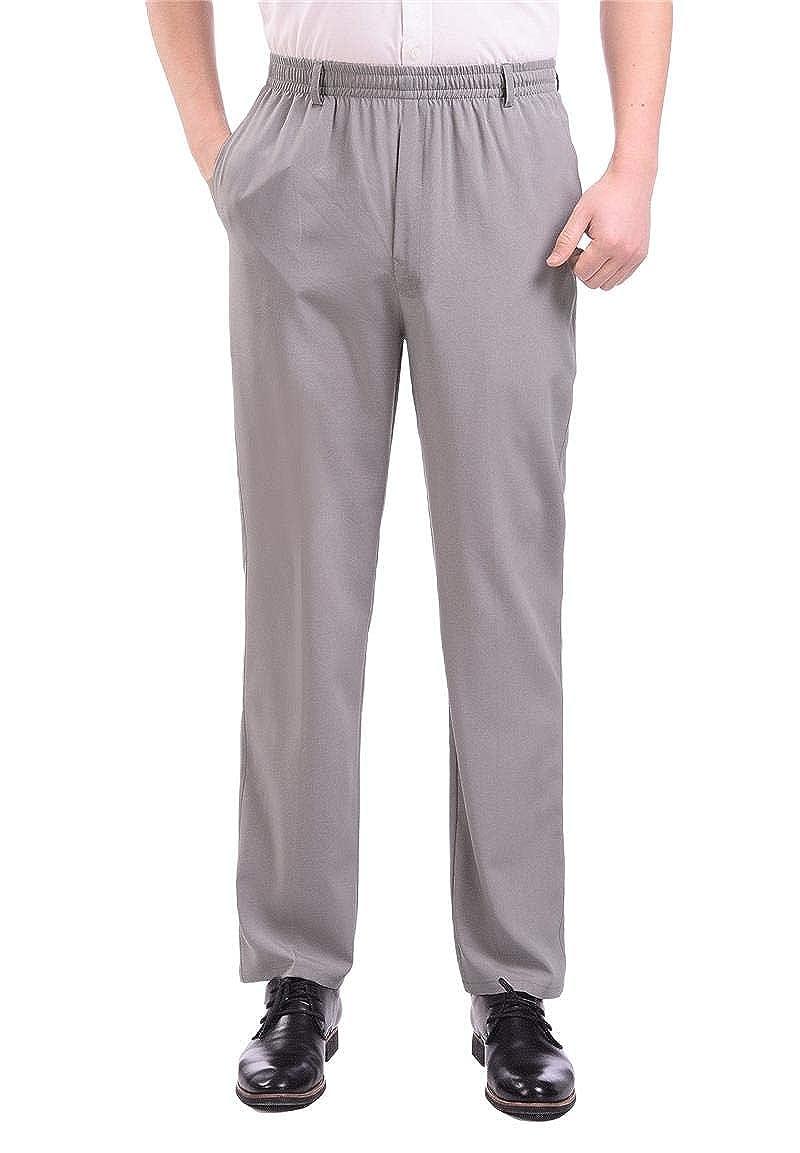 Baseby Mens Elastic Drawstring Plus-Size Baggy Casual High Waist Pant