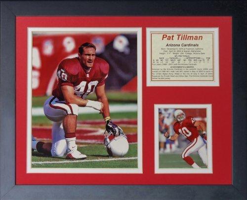 """Legenden Sterben Nie """"Pat Tillman"""" gerahmtes Foto Collage, 11 x 35,6 cm von Legends Never Die"""