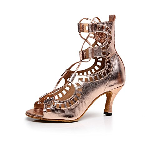 JSHOE Chaussures de Danse Salsa Latine PU/Tango/Th