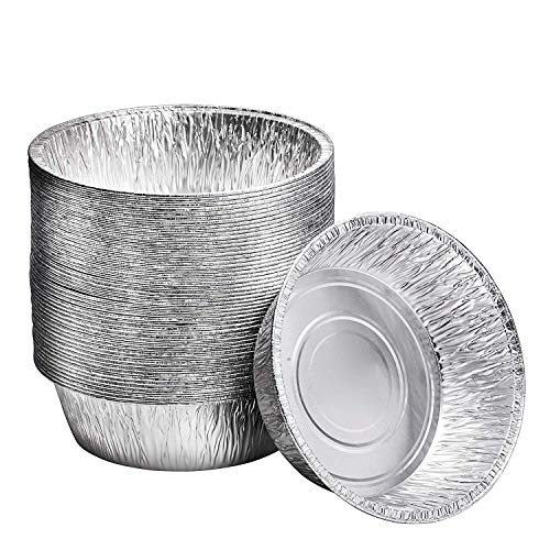 10-Inch Aluminum Dutch Oven Liner Pans 100 Count Cake Pan and Extra Deep Aluminum Foil Pans for Baking and Camping