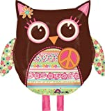 Hippie Owl Mylar Party Balloon Decoration