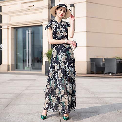 Manches Size Bureau Lady Ruffles Vêtements Imprimer Soirée Plus Été Qaqbdbckl De Bow nbsp; nbsp; Robe nbsp;longue Plage 6xgTCw1qz