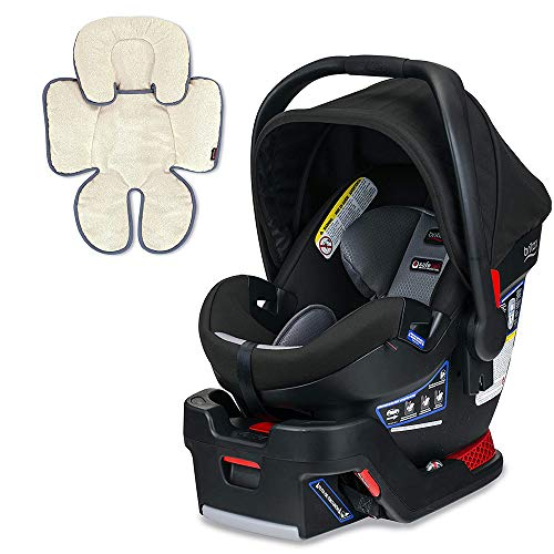 Britax B-Safe Ultra Infant Car Seat, Noir with Support Pillow Bundle