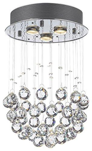 Modern Rain Drop Chandelier w/Crystal Balls H18xW12