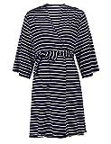 Skylin Women Hospital Maternity Nursing Breastfeeding Sleepwear (Navy Blue, Large)