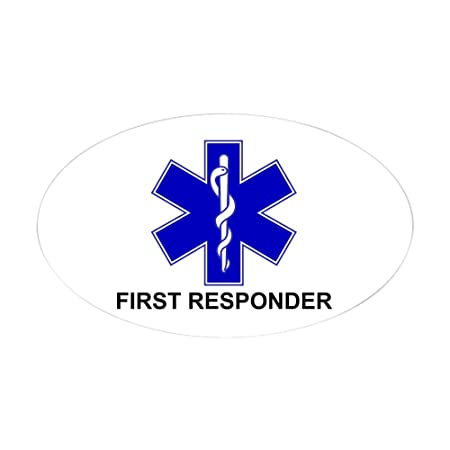 a9151ebd CafePress - BSL - FIRST RESPONDER - Oval Bumper Sticker Car Decal:  Amazon.co.uk: Kitchen & Home