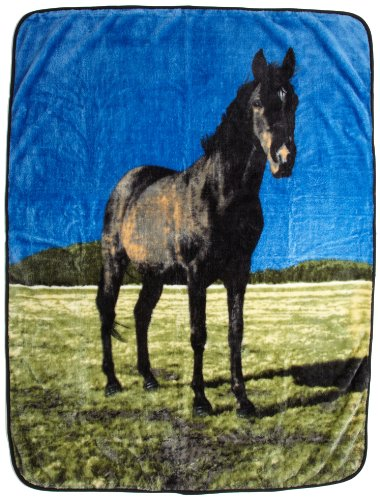 Northpoint Printed Raschel Animal Throw, Black Beauty by Northpoint