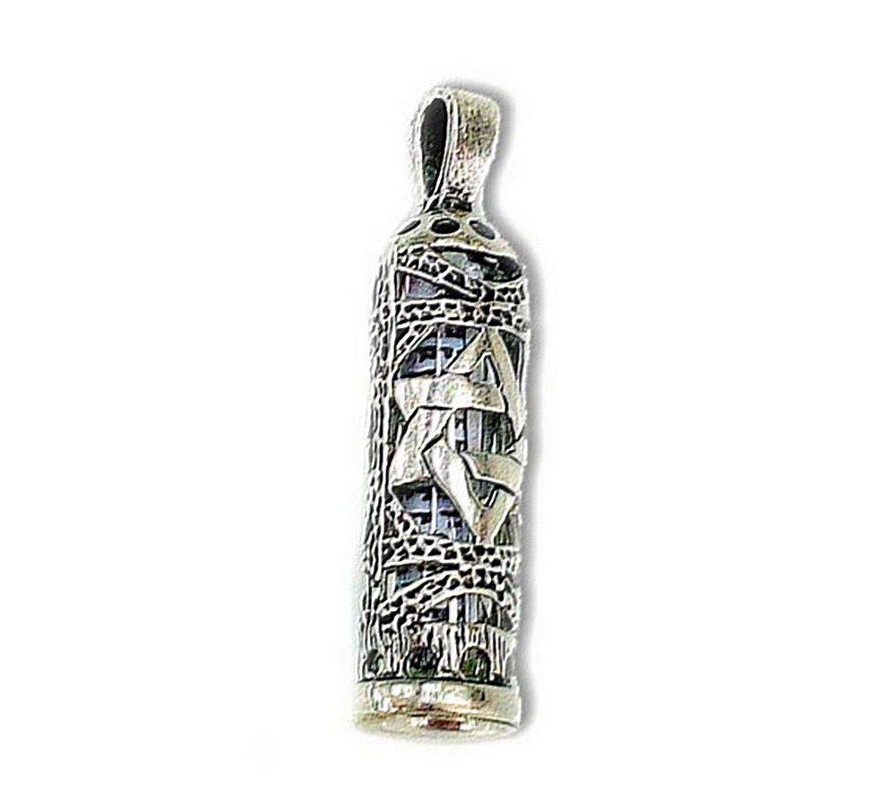 ✡ Trés Joli Pendentif en argent Etoile de David contenant une Mezouza et sa chaîne billes. Envie Bijoux