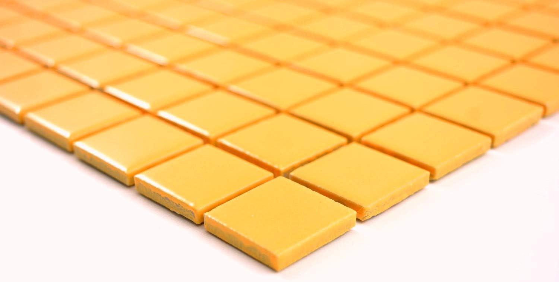 Mosaik Fliesen Mosaikfliesen Keramikmosaik Keramik Kachel gelb gl/änzend