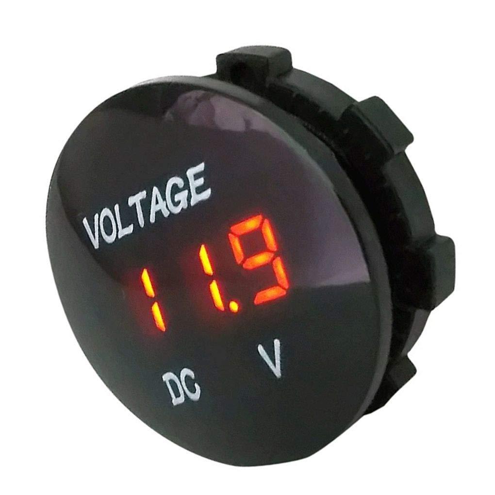 Hotaluyt /Étanche DC 5-48V Panneau voltm/ètre num/érique Compteur testeur de Tension LED de Remplacement daffichage pour Auto Moto Bateau