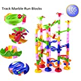 AutoLover Marble Run Set,Marble Run Coaster 105pcs Marble Race Game Marble Run Play Set For Kids