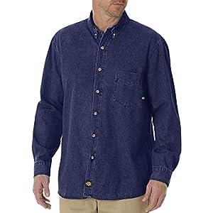 Dickies Men's Long Sleeve Denim Work Shirt Big-Tall