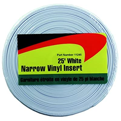 JR Products 11245 White 25 foot Narrow Vinyl Insert: Automotive