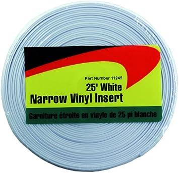 JR Products 11245 White 25 foot Narrow Vinyl Insert
