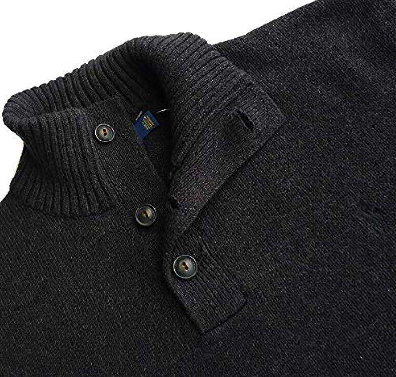 Ralph Lauren Polo sweter z dzianiny rozm. XXL, logo Pony, granit: Odzież