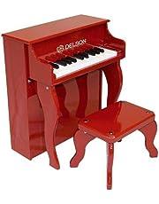 Delson 2505R - Pianoforte per bambino, a destra, colore rosso