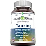 Amazing Nutrition Amazing Formulas Taurine * 1000 mg Pure L Taurine Amino Acid Supplement * 100 Capsules (Non-GMO)* Potent Antioxidant * Supports Eye Health, Healthy Cellular Activity & Cardio