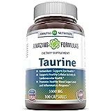 Amazing Nutrition Amazing Formulas Taurine 1000 Mg 100 Capsules - Pharmaceutical Grade - Antioxidant Amino Acid