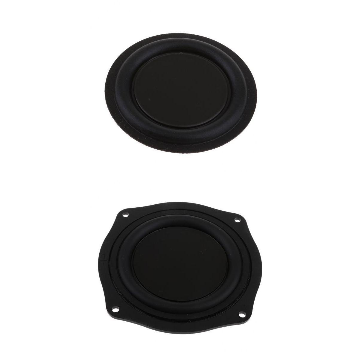 perfk 2pcs Boomers Haut-Parleur Passif Vibration Diaphragme 11.4x11.4x1.3 cm