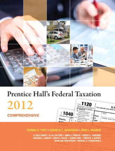 Prentice Hall's Federal Taxation 2012