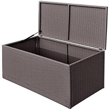 Einzigartig Amazon.de: Rattan Auflagenbox grau - Kissenbox FT57