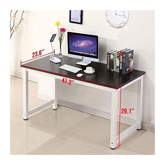 Wood Black Computer Desk PC Laptop Table Workstation Study Home Office Furniture -  - writing-desks, living-room-furniture, living-room - 51uVKsbf1dL. SS570  -