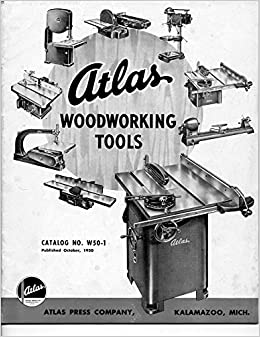 1950 Atlas Woodworking Tools Catalog W50 1 Instructions Plastic