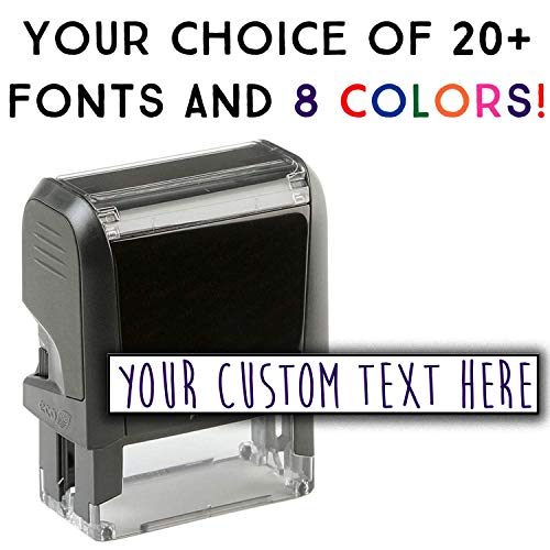 Custom Stamp - 20 Font Options - Self-Inking Address Stamp - 1 ()