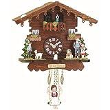 Reloj en miniatura de la selva negra casa suiza, bailarines que dan vuelta TU 505 SQ
