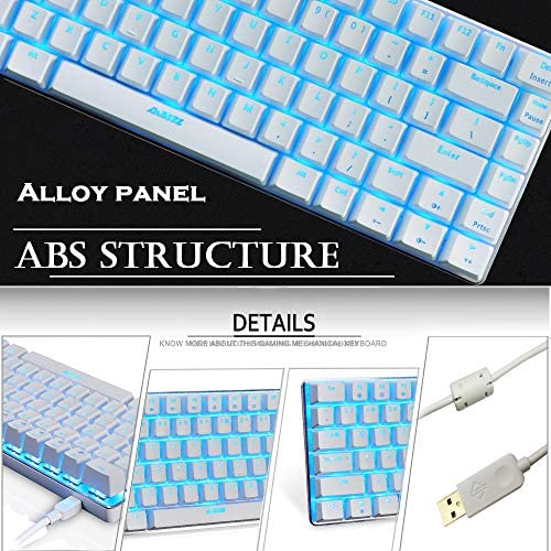 Gaming Keyboard and Mouse,3 in 1 Gaming Set,Blue LED Backlit Wired Gaming Keyboard,RGB Backlit 12000 DPI Lightweight Gaming Mouse with Honeycomb Shell,Large Mouse Pad for PC Game(Macaron Green) 51uVLdrW4dL