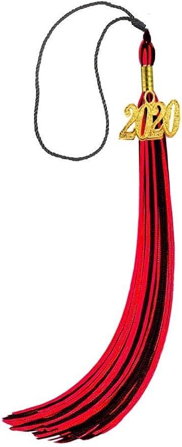 2019 Update HEPNA Uniforms Graduation Cap Tassel for Graduation Photo,Double Color Red//Gold