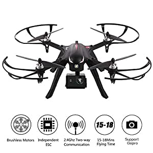 Brushless Drone RC Quadcopter,Dayan Anser MJX Bugs 3 Brushless Motors,300 Meters Control Distance,15 Mins Flying Time RTF Drone,Compatible with Gopro Hero HD Camera + Xiaomi Xiaoyi Motion Camera