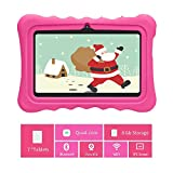 Cocopa 7 inch Kids Tablet, 1.5Ghz Quad Core, 1GB + 8GB ROM, 7-inch IPS Display, WiFi Bluetooth, 3D AR Zoo and Parental Control Software-iWawa APP, Kids-proof Case with Handle and Stand
