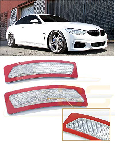 Extreme Online Store for 2014-Present BMW F32 F33 F36 4-Series EOS Factory Style Crystal Clear Front Bumper Fender Reflector Side Marker Lights Turn Signal -