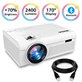 Best Tv Projectors - BIGASUO Projector, Portable Bluetooth Projector 2400 Lumens, Mini Review