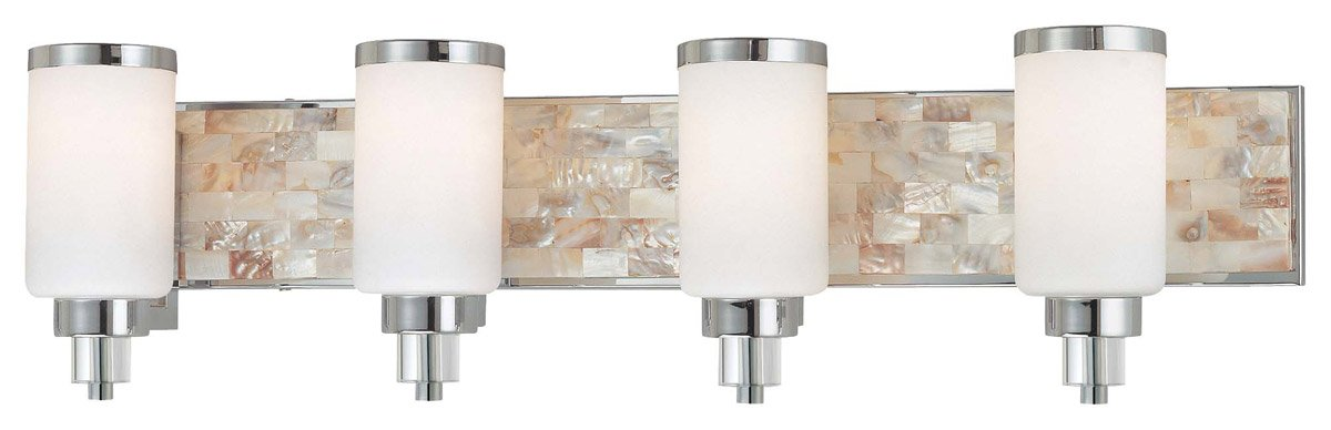 Minka Lavery 3244-77, Cashelmara Reversible Glass Wall Vanity Lighting, 4 Light, 400 Watts, Chrome by Minka Lavery