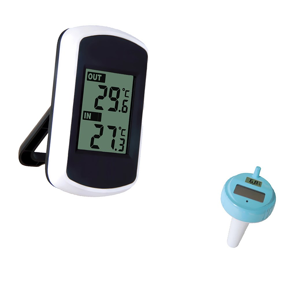 Gazechimp Thermomètre de Bain Digital Intérieur Extérieur pour Piscine Flottant Spa avec Transmetteur