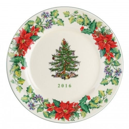 spode christmas tree 2016 annual edition collector plate multicolor - Christmas Plates