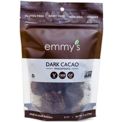 Emmys Dark Cacao Macaroons, 6 Ounce -- 8 per case.