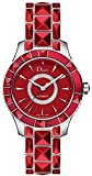 Christian Dior Christal Women's Steel Watch Set with Red Sapphire Studs CD144511M001