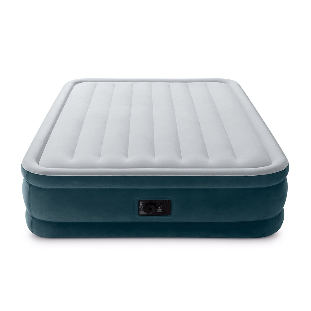 Intex Dura-Beam Series Elevated Comfort Airbed with Built-In Electric Pump, Bed