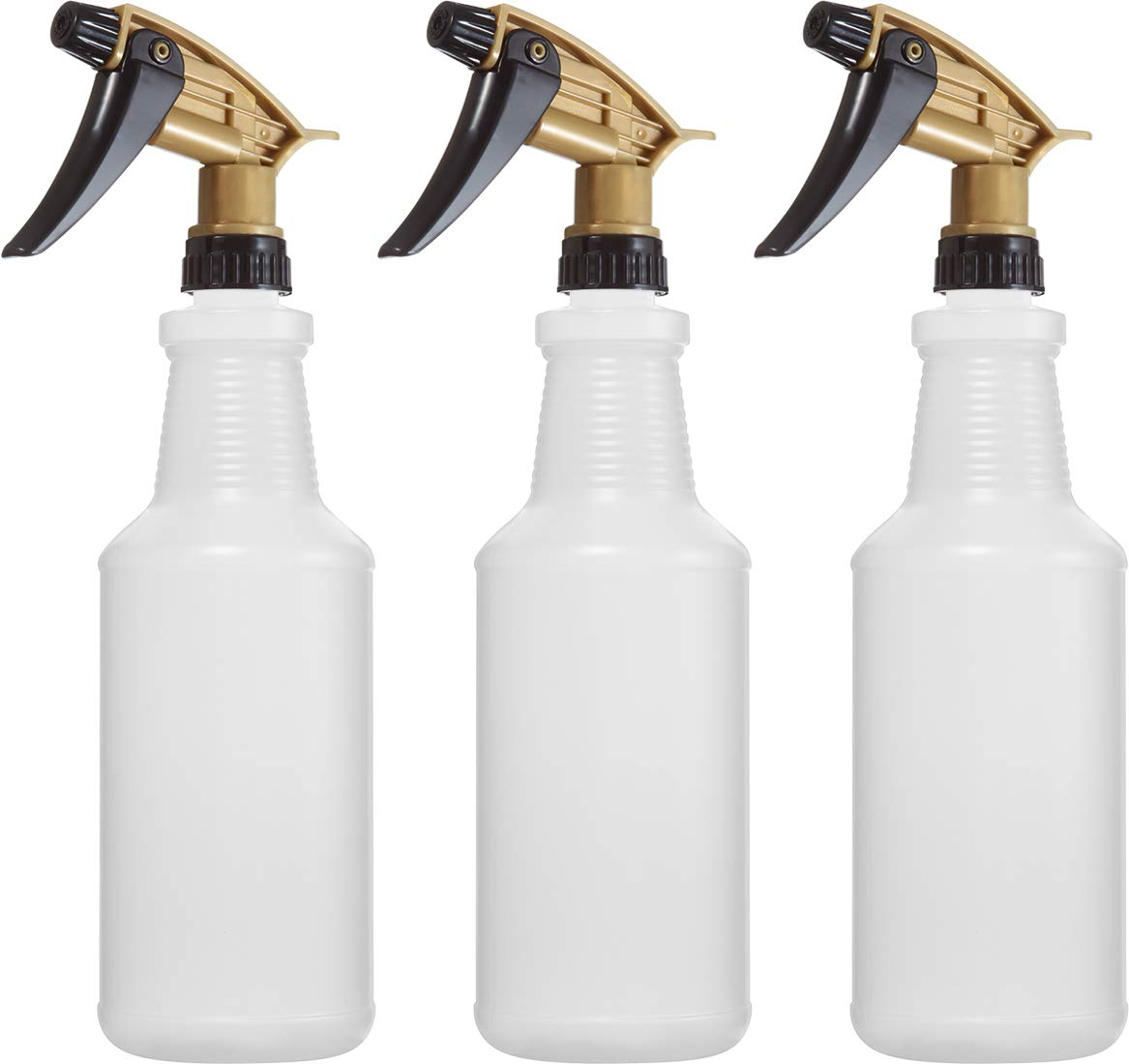 Professional Chemical Resistant Heavy Duty Bottles 32 oz, for All Acid Based Cleaning Solutions, N11 Acid Resistant Fully Adjustable Sprayer, Value Pack of 3